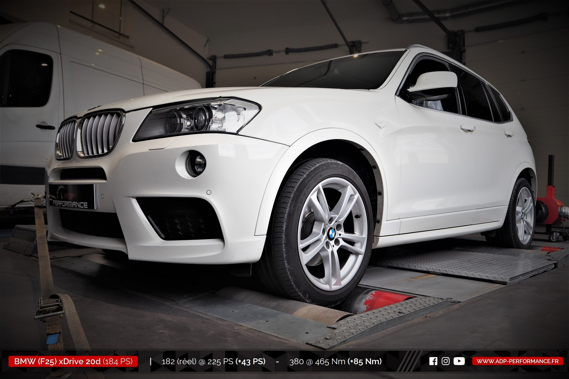 Reprogrammation moteur Montpellier, Nimes, Arles - BMW X3 (F25) xDrive 20d 184cv - ADP Performance