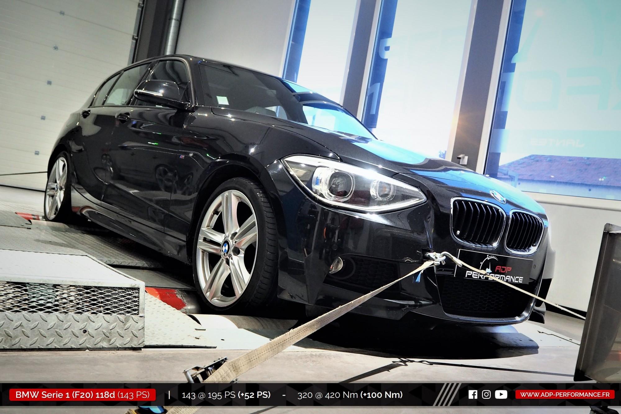 Reprogrammation moteur Marseille, Aix en Provence, Avignon - BMW Serie 1 F20 118d 143cv - ADP Performance