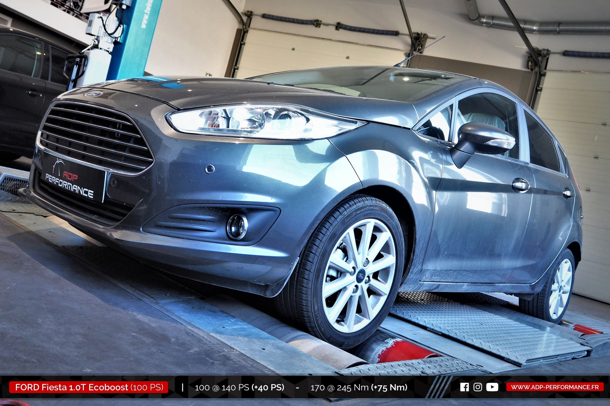 Reprogrammation moteur Aix en Provence, Marignane, Vitrolles - Ford Fiesta 1.0T Ecoboost 100cv - ADP Performance
