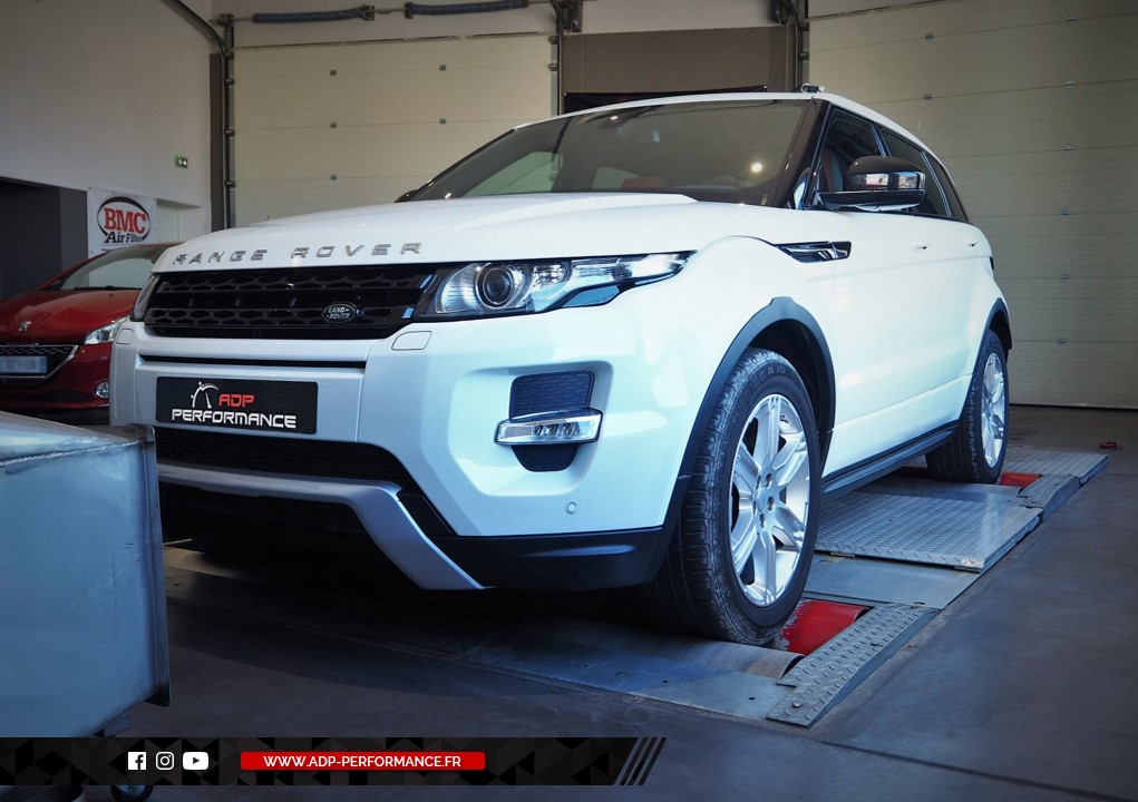 Reprogrammation moteur - Land Rover Evoque 2.2 SD4 190cv - ADP Performance