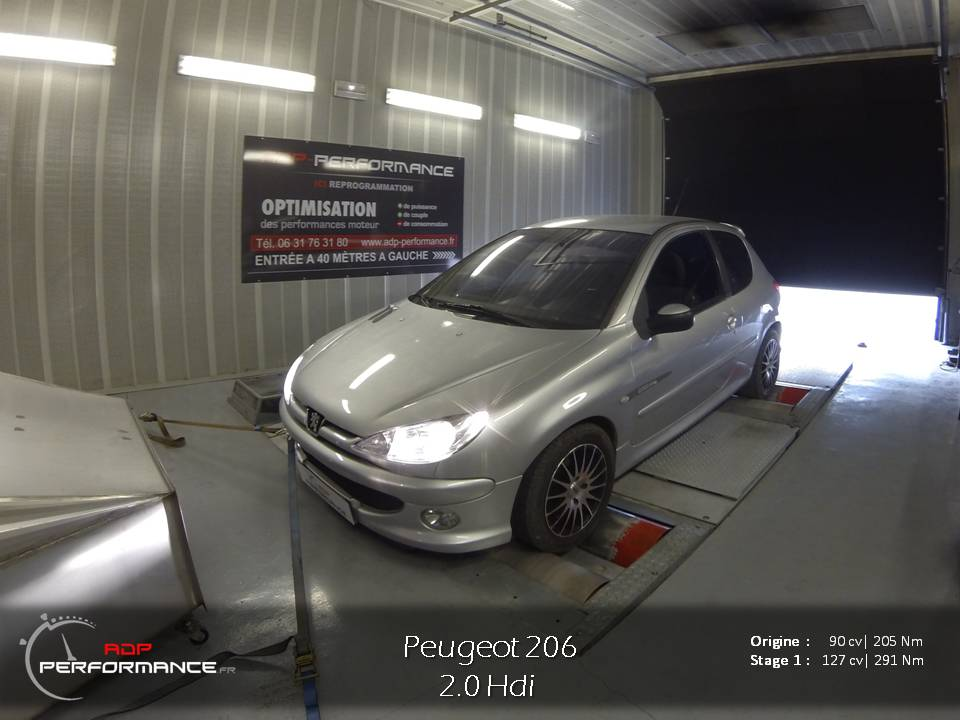 peugeot 206 tous diesel 2 0 hdi 90 cv reprogrammation de votre vehicule reprogrammation. Black Bedroom Furniture Sets. Home Design Ideas