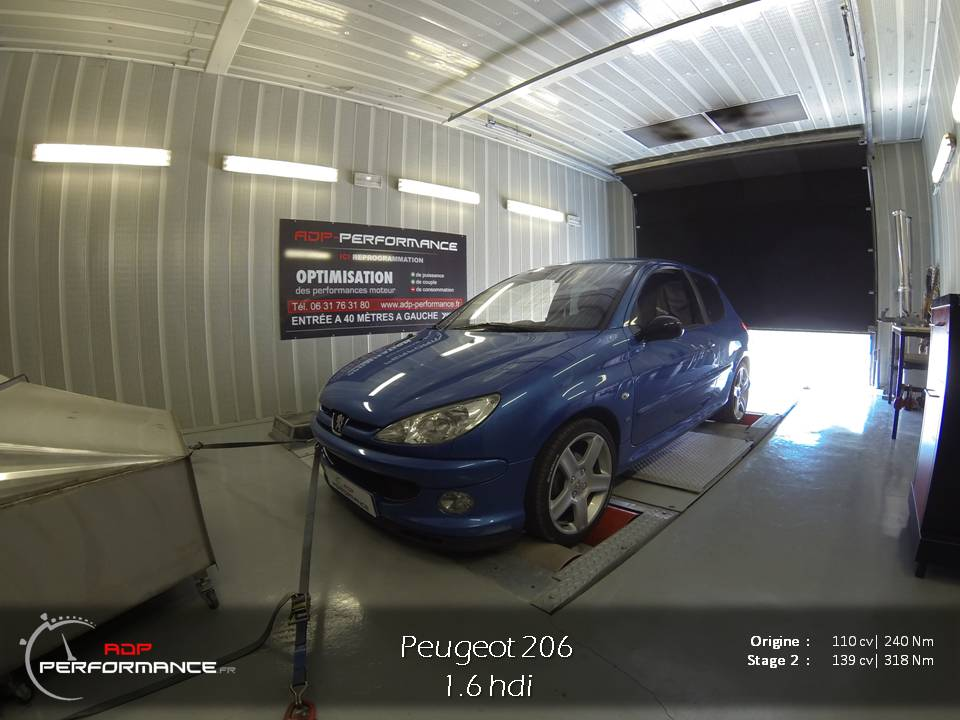 peugeot 206 tous diesel 1 6 hdi 110 cv reprogrammation de votre vehicule reprogrammation. Black Bedroom Furniture Sets. Home Design Ideas