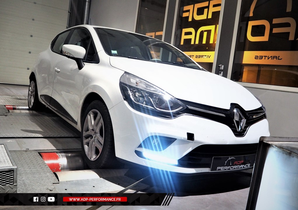 Reprogrammation moteur - Renault Clio 4 (Ph2) 0.9 TCE 90cv - ADP Performance
