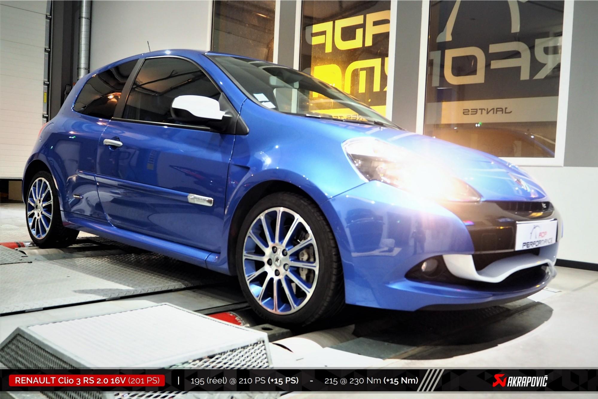 Reprogrammation moteur Marseille, Plan de Campagne, Aix en Provence - Renault Clio 3 RS 2.0 16V 201cv - ADP Performance