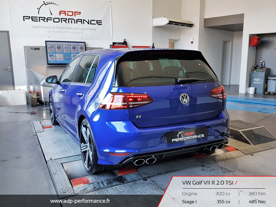 Reprogrammation moteur Manosque, Marignane, Aix en Provence - Volkswagen Golf VII R 2.0 TSI 300 ADP Performance