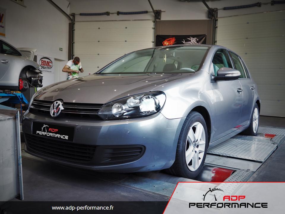 Reprogrammation moteur - Volkswagen Golf VI 2.0 TDI CR 143cv - ADP Performance