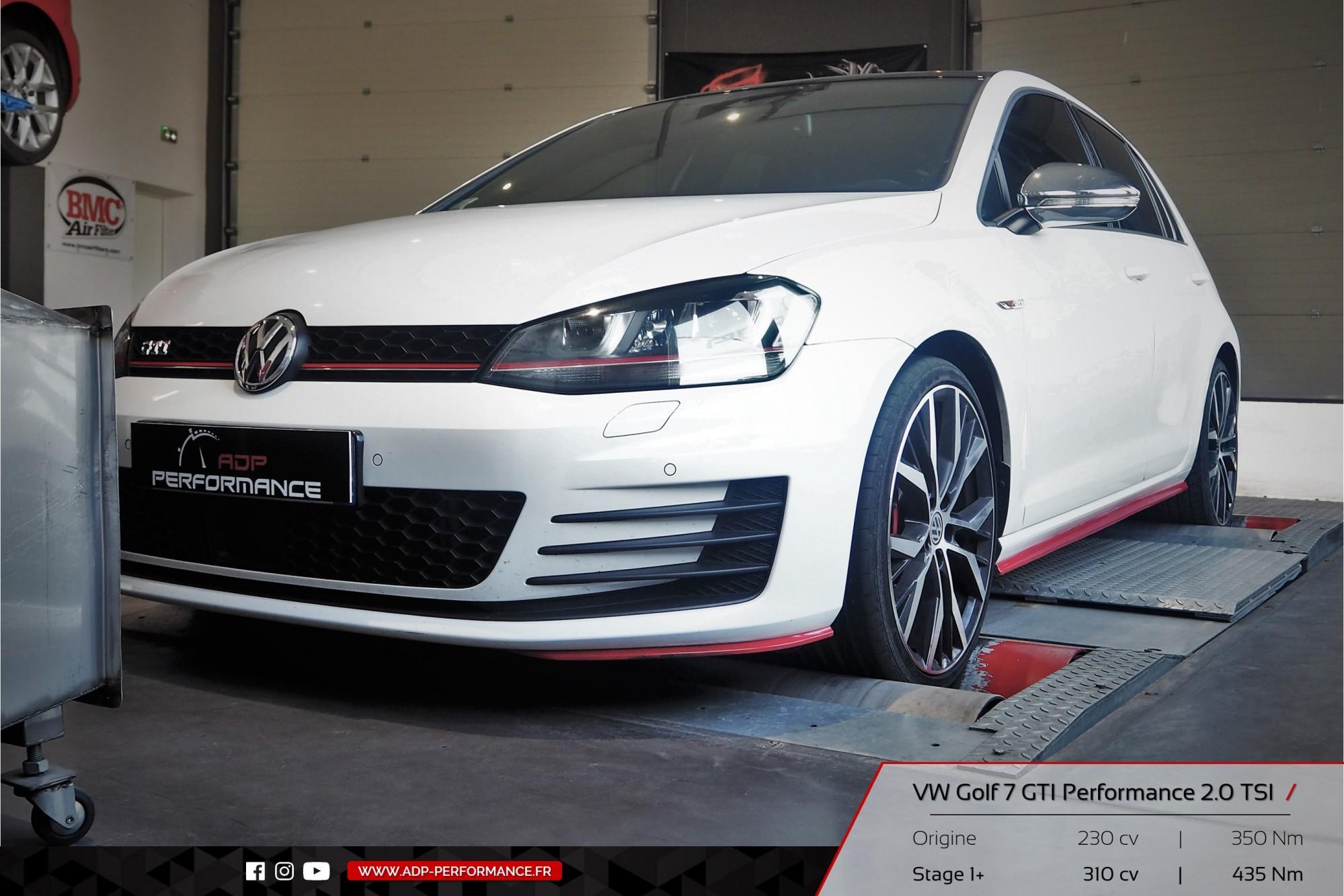 Reprogrammation moteur - VW Golf 7 GTI Performance 2.0 TSI 230cv Nimes, Arles, St Martin de Crau - ADP Performance
