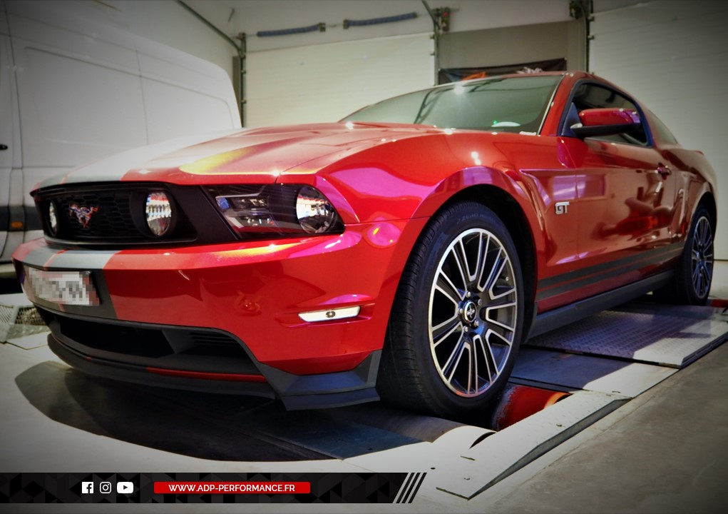 Reprogrammation moteur - Ford Mustang 5.0 V8 418cv - ADP Performance