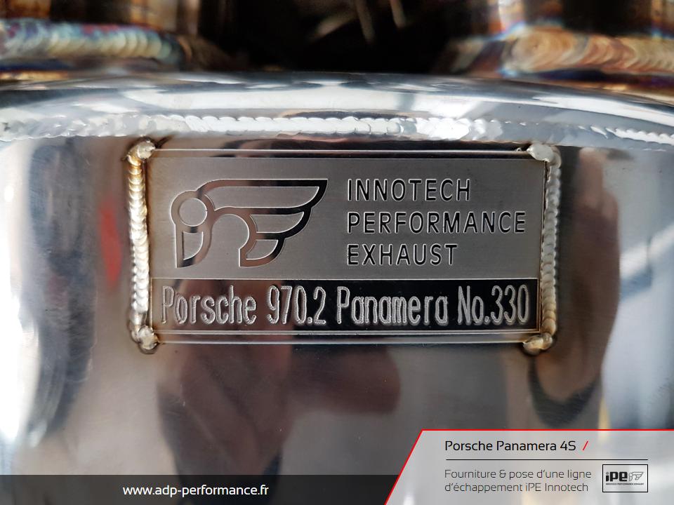 Ligne d'échappement iPE Innotech Porsche Panamera 4S Cannes