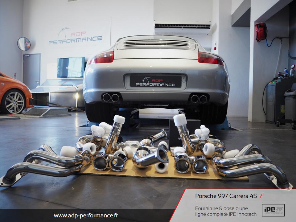 Ligne d'échappement iPE Innotech Porsche 997 Carrera 4S Montpellier