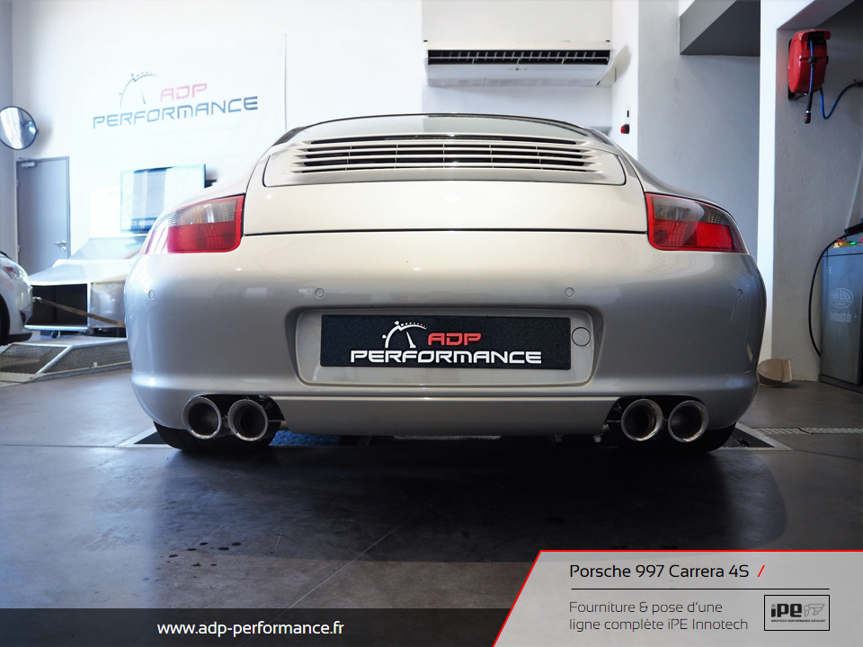 Ligne d'échappement iPE Innotech Porsche 997 Carrera 4S Nimes