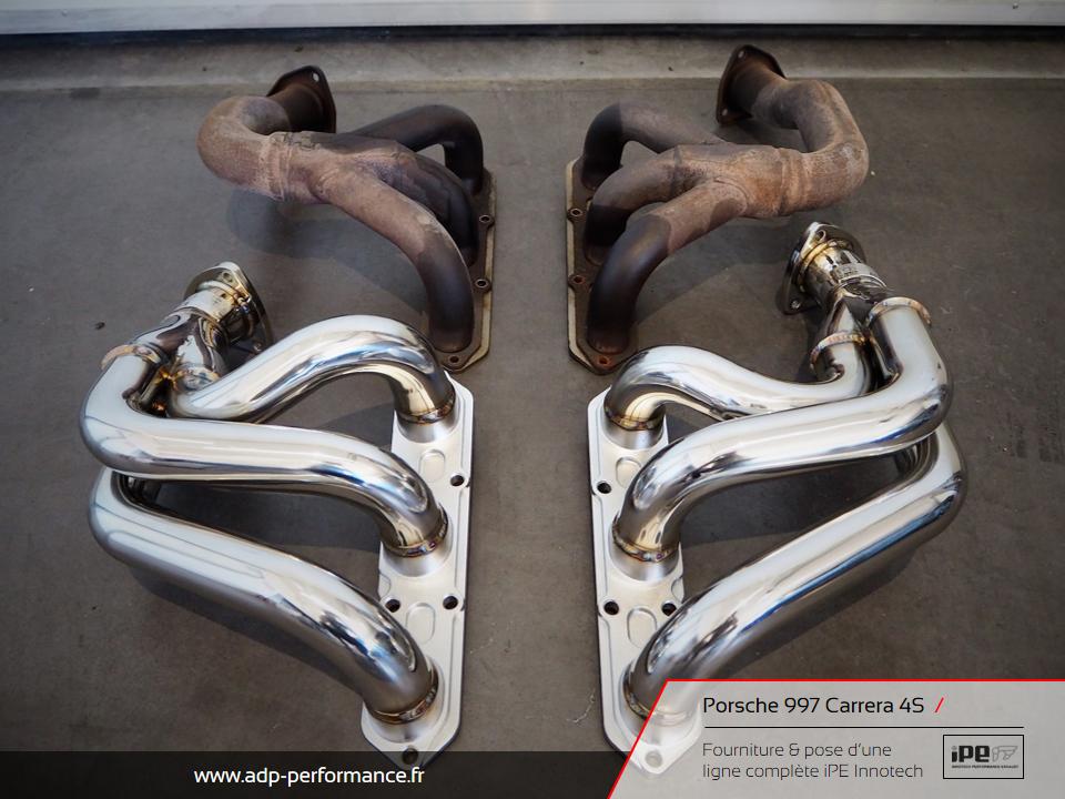 Ligne d'échappement iPE Innotech Porsche 997 Carrera 4S Marseille