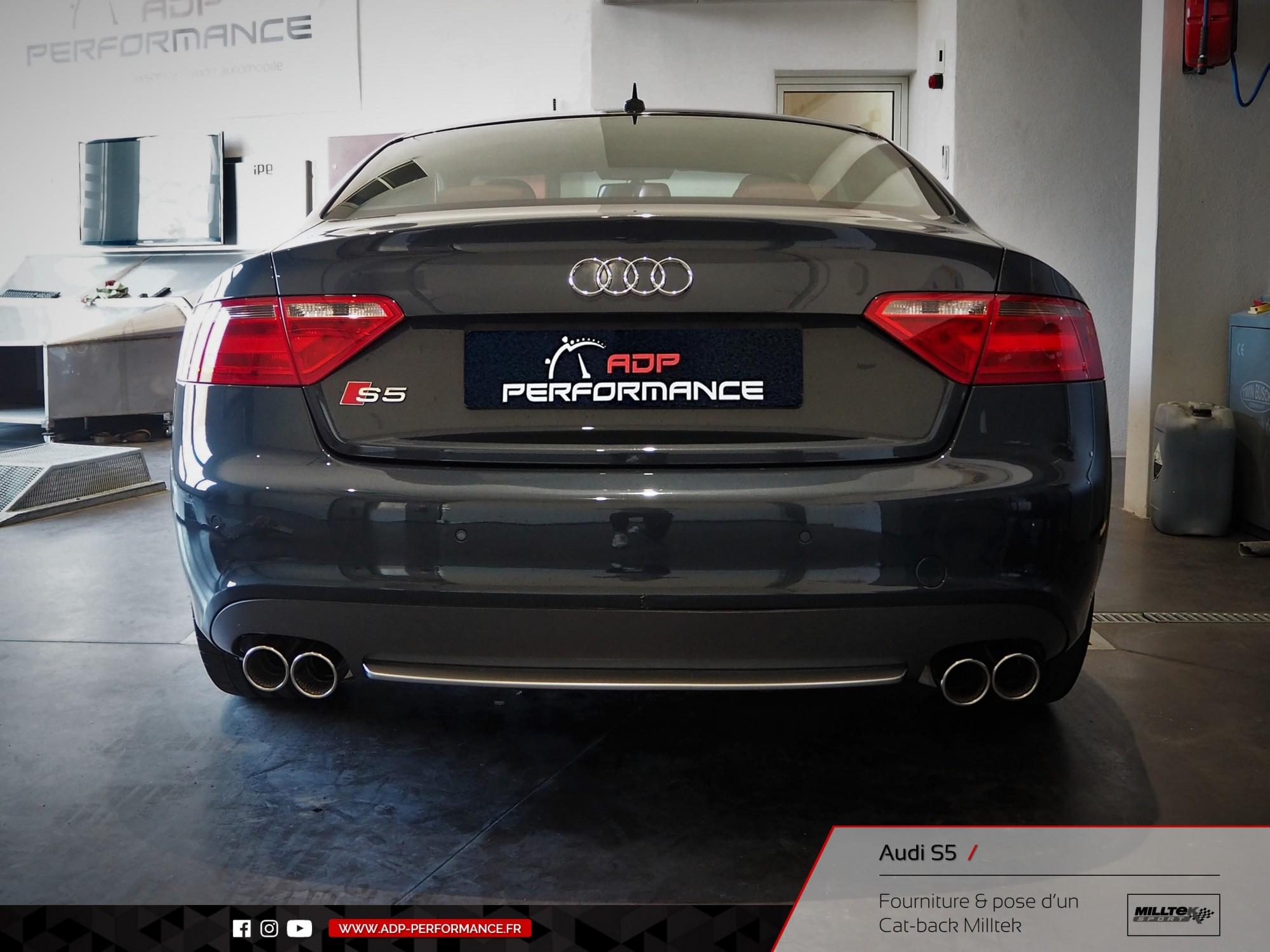 Ligne d'échappement Cat-back Milltek Audi S5 Aix en Provence - ADP Performance