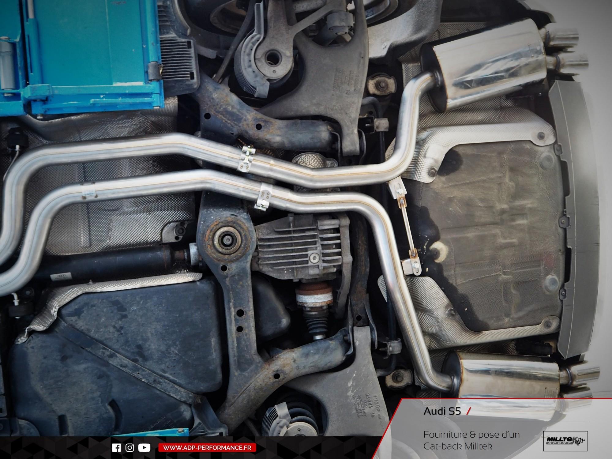 Ligne d'échappement Cat-back Milltek Audi S5 Avignon - ADP Performance