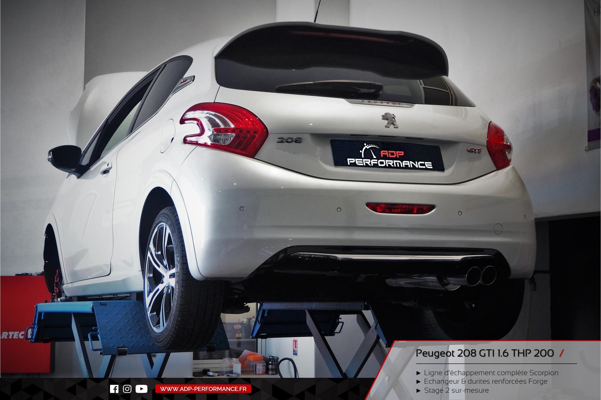 Ligne d'échappement Scorpion Peugeot 208 GTI 1.6 THP 200cv Nimes - ADP Performance