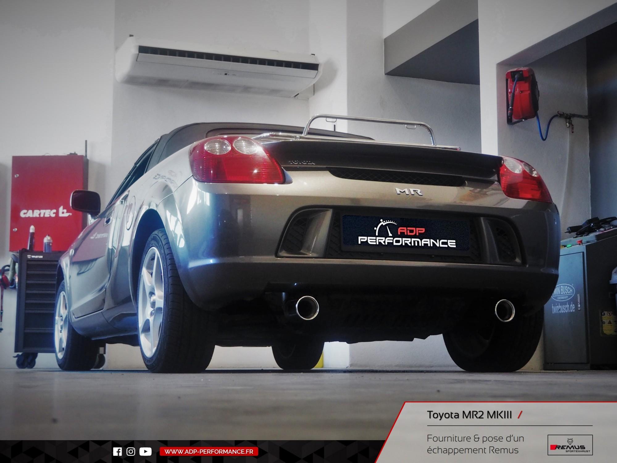 Ligne d'échappement Remus Avignon - Toyota MR2 MK3 - ADP Performance