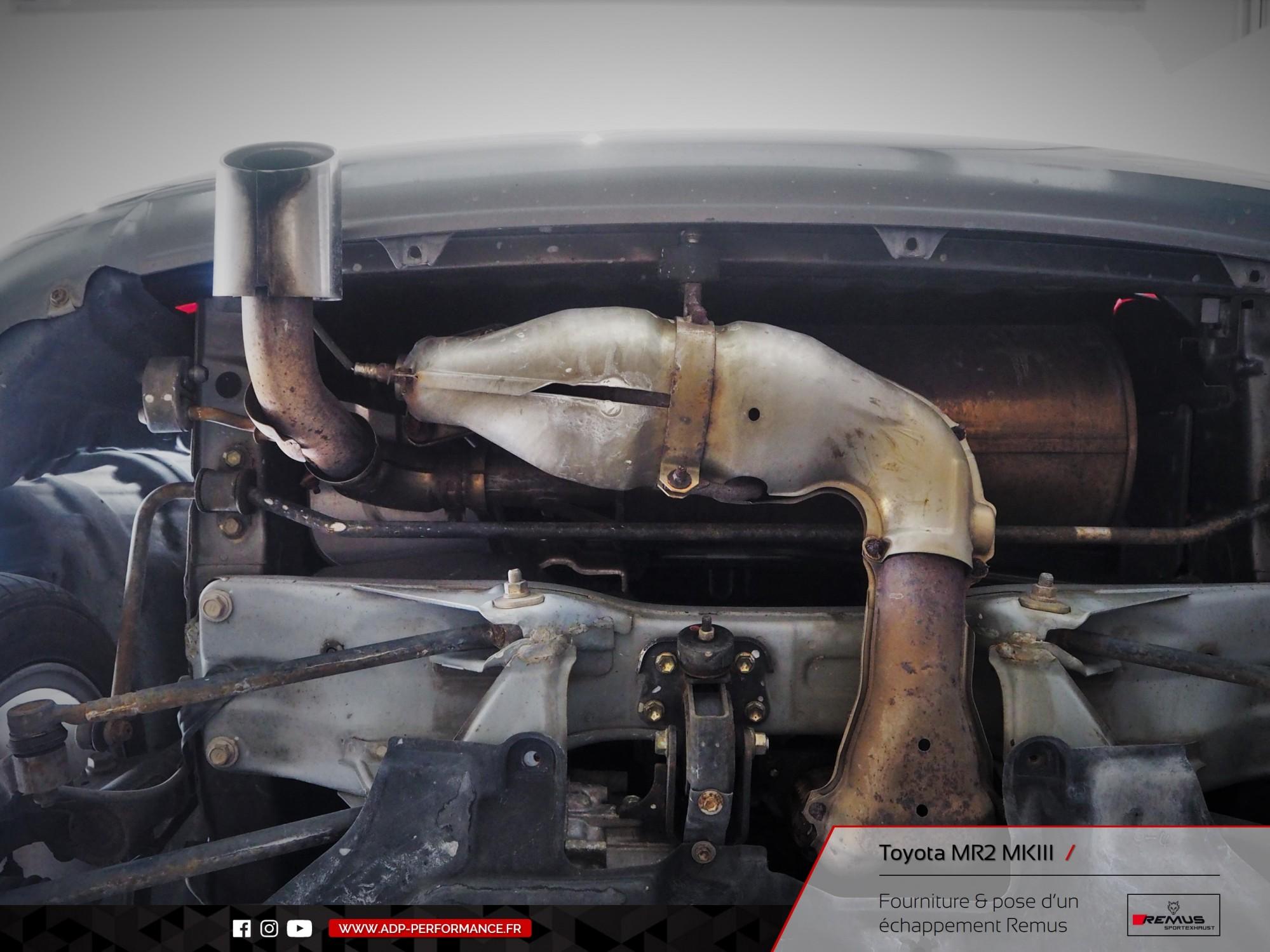 Ligne d'échappement Remus Le Pontet - Toyota MR2 MK3 - ADP Performance