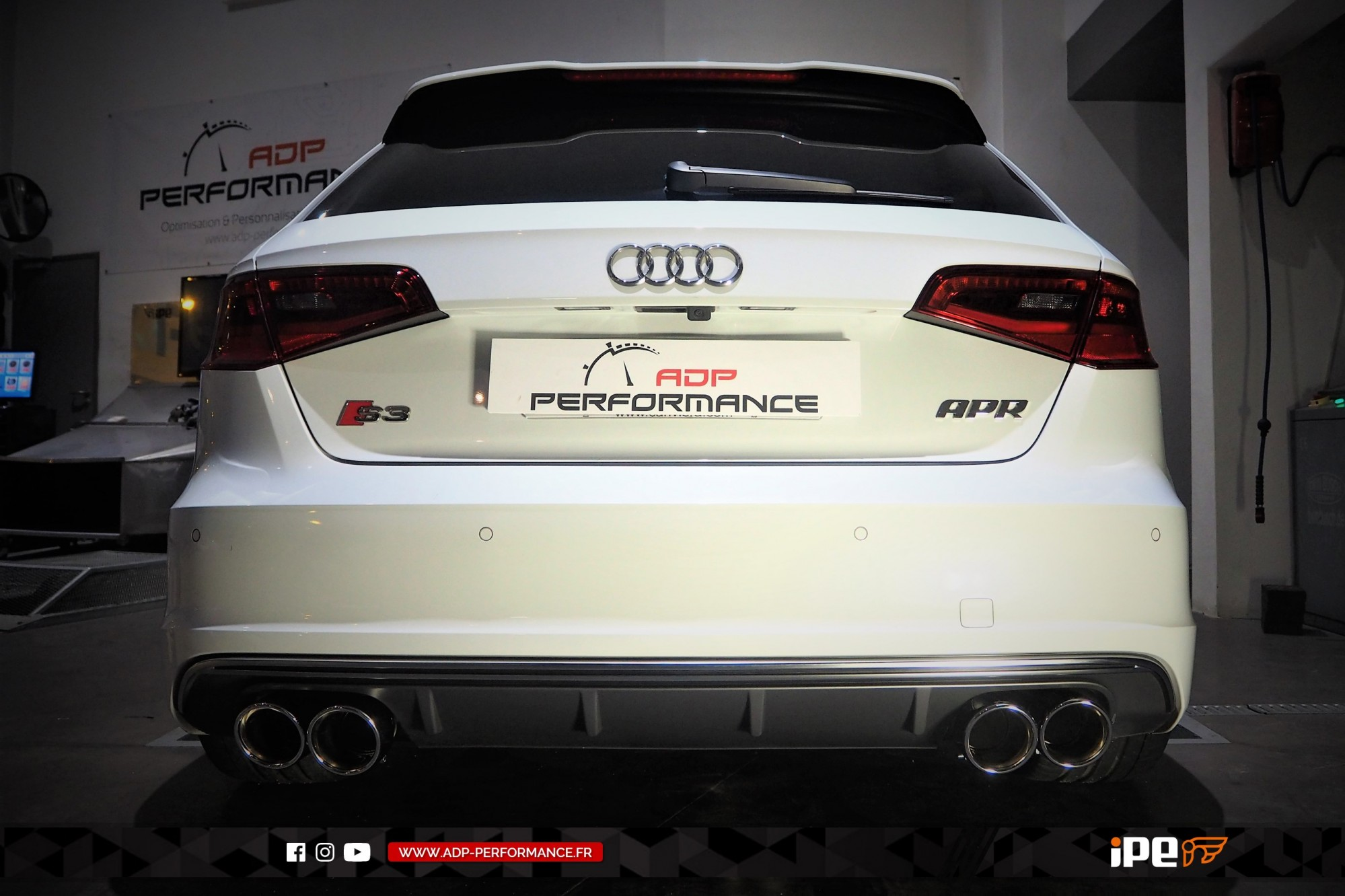 Ligne d'échappement (cat-back) iPE Innotech Salon de Provence - Audi S3 8V - ADP Performance