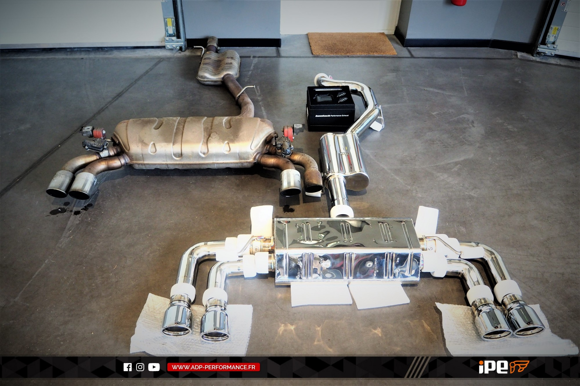 Ligne d'échappement (cat-back) iPE Innotech Marseille - Audi S3 8V - ADP Performance