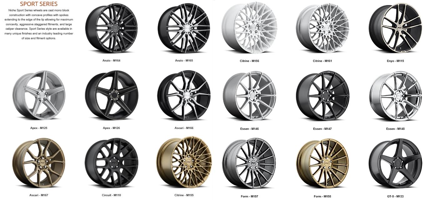 jantes niche wheels jante nos marques de jantes achat. Black Bedroom Furniture Sets. Home Design Ideas