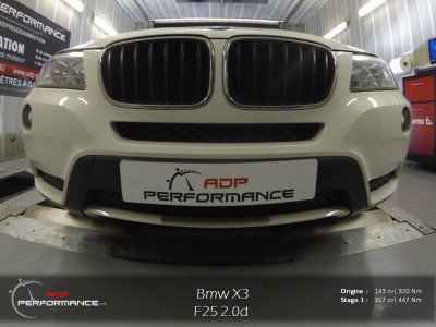 Reprogrammation moteur bmw x3 18d