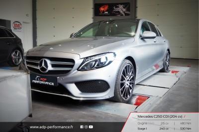 Reprogrammation moteur Salon de Provence - Mercedes Classe C 250 CDI 204cv - ADP Performance