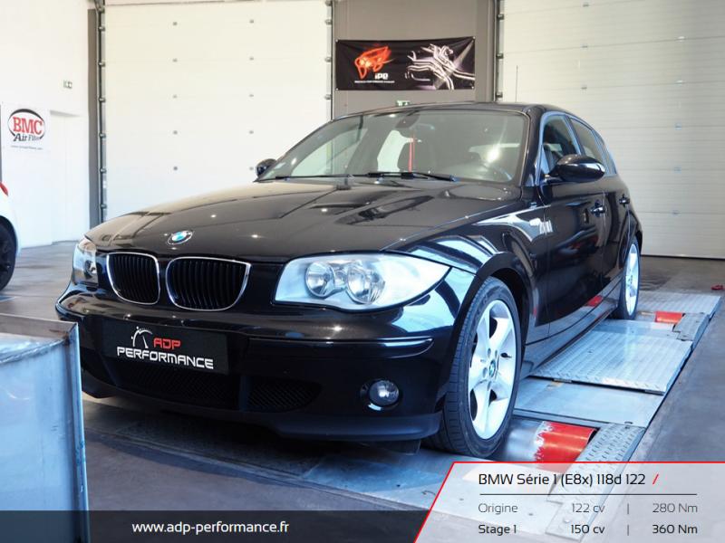 Reprogrammation moteur Vitrolles, Marignane, Plan de Campagne - BMW Série 1 - E8x 118d 122cv - ADP Performance