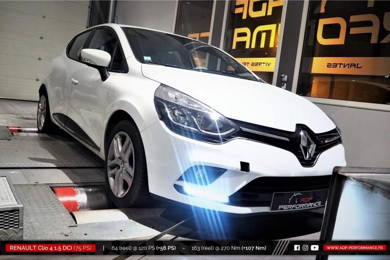 Reprogrammation moteur Miramas, Martigues, Istres - Renault Clio 4 (Ph2) 1.5 DCI 75cv - ADP Performance