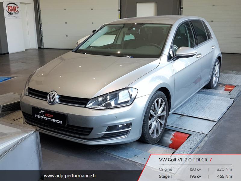 Reprogrammation moteur Aix en Provence, Plan de Campagne, Marseille - Volkswagen Golf VII 2.0 TDI CR 150cv - ADP Performance