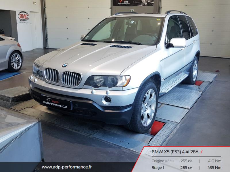 Reprogrammation moteur Nice, La Ciotat, Marseille - BMW X5 4.4i 286 ADP Performance